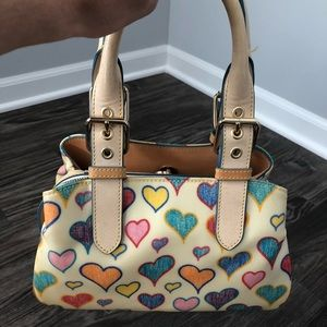 Dooney and Bourke Scribble Hearts Satchel
